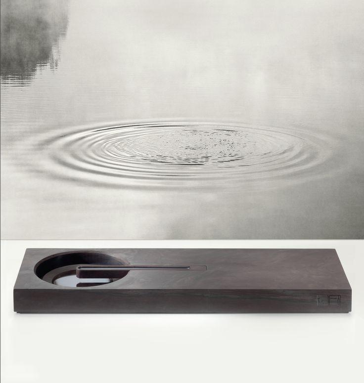 Ink Stone Water Feature - 端溪观石 4 - 让时间停顿。。。抚平心中的涟漪