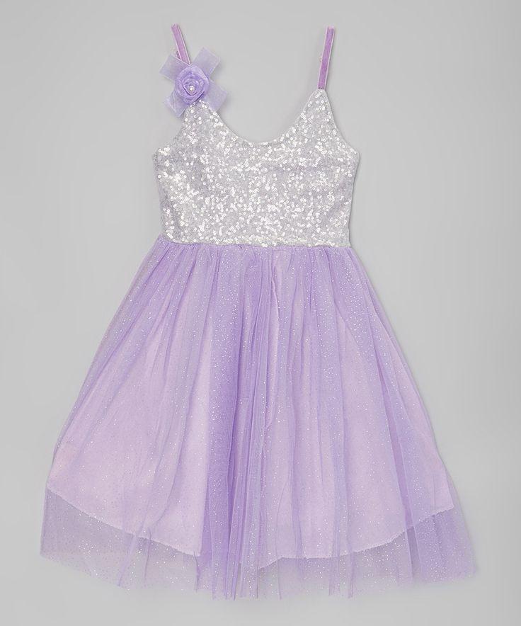 This Sweet Cheeks Purple Sequin Dress - Toddler & Girls by Sweet Cheeks is perfect! #zulilyfinds