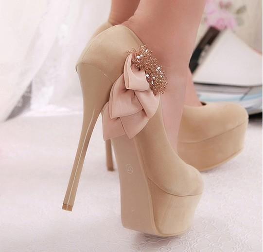 Glam Nude HeelsNude Shoes, Fashion, Wedding Shoes, Highheels, Pump, Nude Heels, Platform Shoes, Bows, High Heels