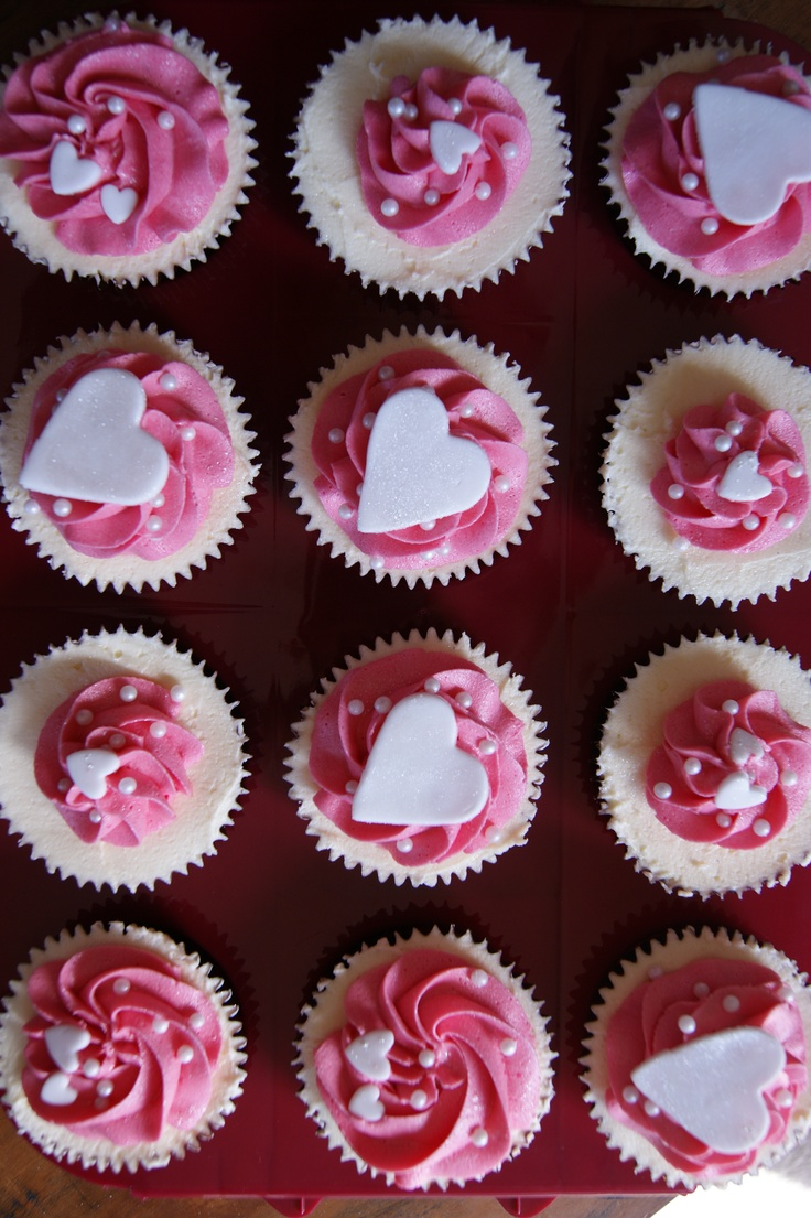 Hens night cupcakes but with diff coloured icing