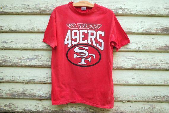 90s Vintage San Francisco 49ers Tshirt Red by GamineRagVintage