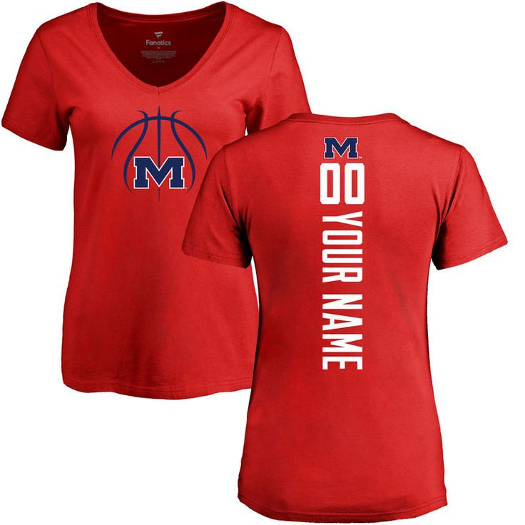Ole Miss Rebels Women's Basketball Personalized Backer T-Shirt - Red