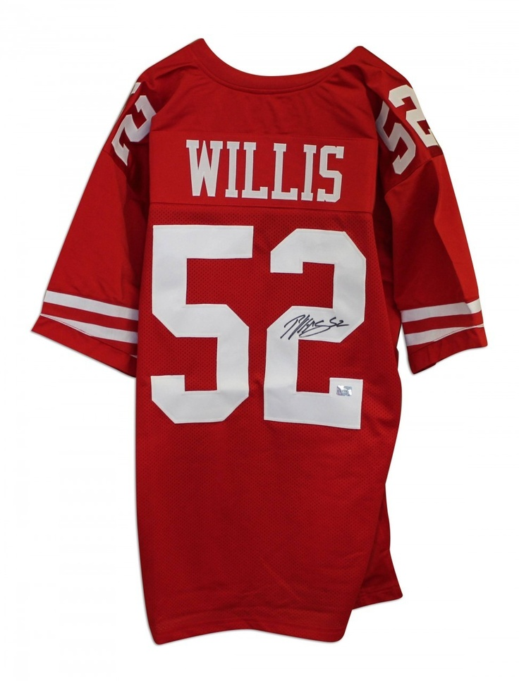 05742ae44 ... AAA Sports Memorabilia LLC - Patrick Willis San Francisco 49ers  Autographed Red Throwback Jersey