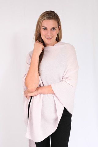 Touch of Pink Cashmere Poncho