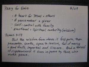 Prayer Cards For Family Members