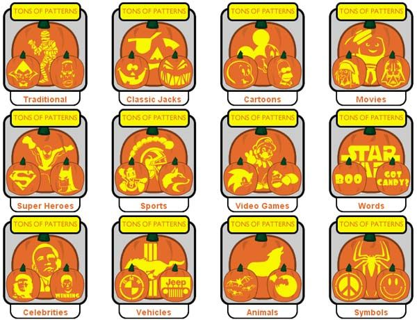 10 Great Sources Of Hundreds of Free Printable Pumpkin Carving Patterns And Stencils You Probably Didn't Know About