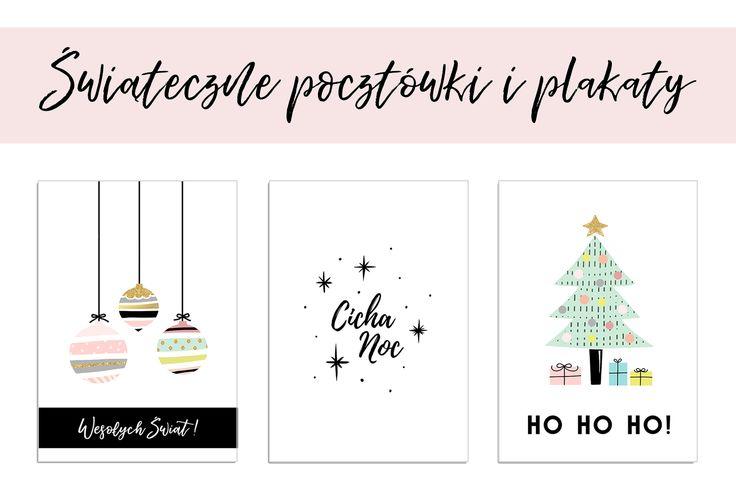 Świąteczne kartki i plakaty na Boże Narodzenie do pobrania i druku posters free printable darmowe za darmo Gwiazdka Christmas