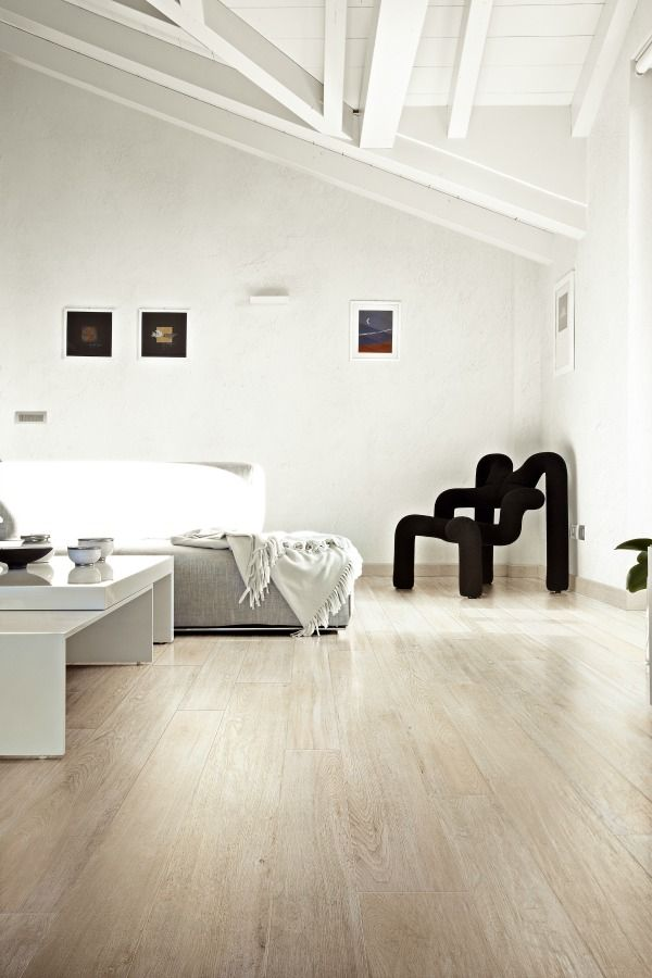 Oak White wood effect tile available in TileStyle  Image courtesy of Florim