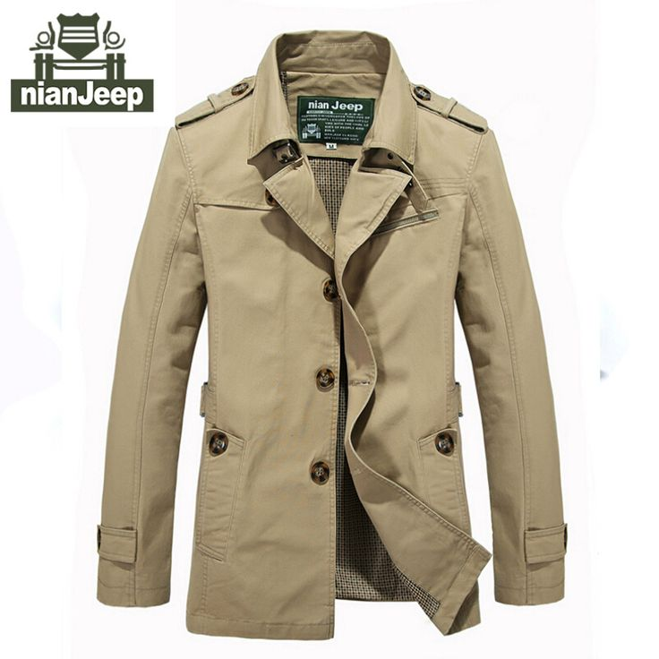 Goedkope 2016 en najaar jassen mannen merk nianjeep kleding mannen jassen lange stijl 100% katoen slim fit classic maat M 5XL, koop Kwaliteit jassen rechtstreeks van Leveranciers van China: Brand men jacket for aeronautica militare plus size 4XL new arrival military cost army outerwear sports embroidery jacke