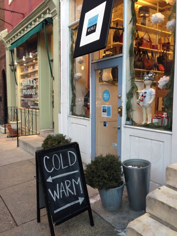 Funny chalkboard signs are an inexpensive way to bring in customers for small business.: