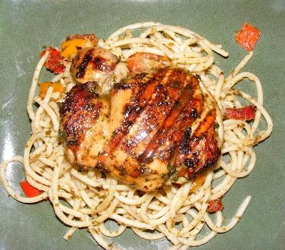 Dinner-A-Day: Grilled Pesto Chicken & Pasta