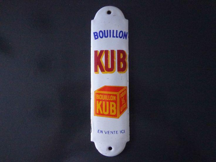 Plaque emaillee de proprete bouillon kub ancienne plaques maill es et obje - Baignoire en tole emaillee ...