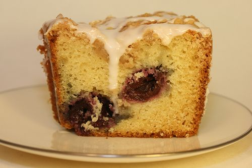 Cherry Almond Streusel Coffee Cake