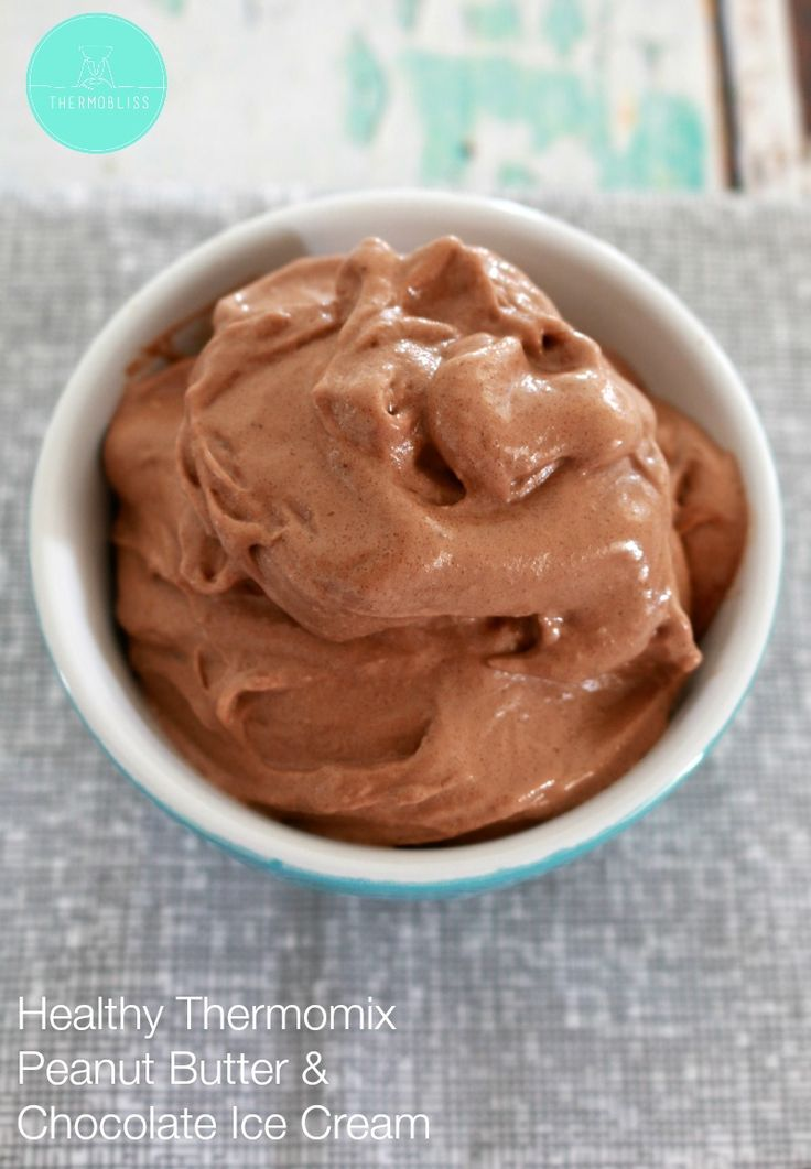 Healthy Peanut Butter & Chocolate Ice Cream