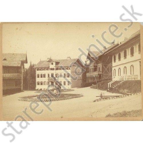 Tatry, Smokovec, kúpeľné domy. Foto Divald Karol - Pohľadnice
