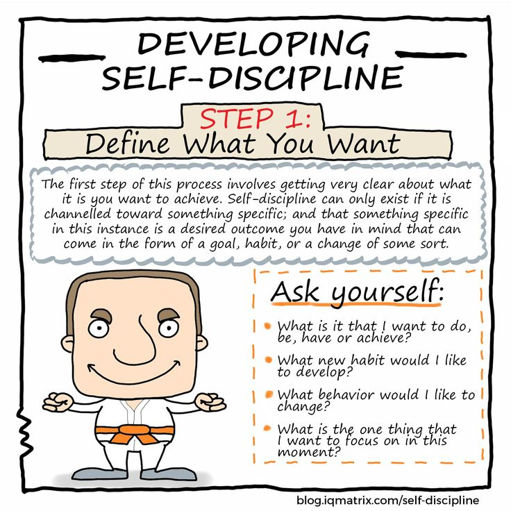 How to Develop Self-Discipline: http://blog.iqmatrix.com/self-discipline