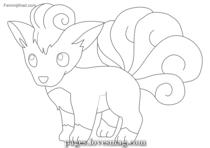 Unique And Creative Pokemon Vulpix Free Coloring Pages Coloring