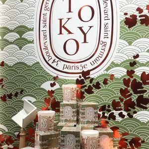 ディプティックTOKYOキャンドルは檜の香り 銀座店で限定販売