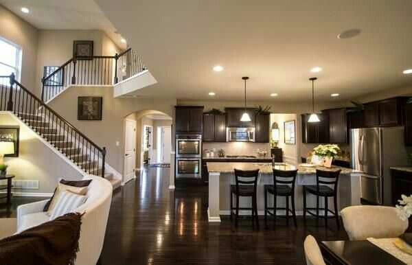 nice openness kitchen living room dining room combo house
