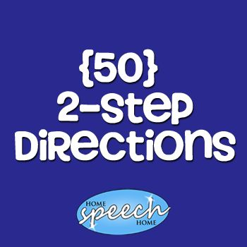 2 Step Directions for Speech Therapy Practice - repinned by @PediaStaff – Please Visit ht.ly/63sNtfor all our pediatric therapy pins