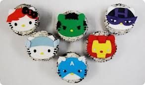 Hello Kitty Avenger cupcakes!