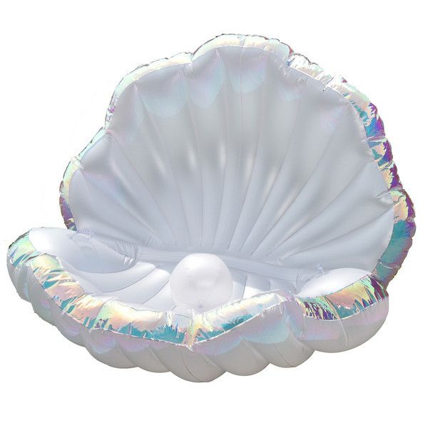 FETCH Mermaid clam giant pearl pool float shell inflatable