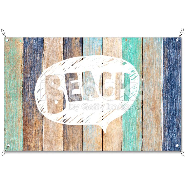Tuinposter Beach | Maak je tuin nog mooier met een weerbestendige tuinposter van YouPri. Bewezen kleurbehoud! #tuinposter #tuindoek #tuin #poster #weerbestendig #kleurbehoud #frontlit #goedkoop #voordelig #spanners #ogen #houten #planken #engels #strand #zomer #gekleurd