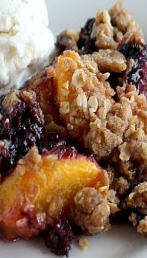 Blackberry Peach Crisp