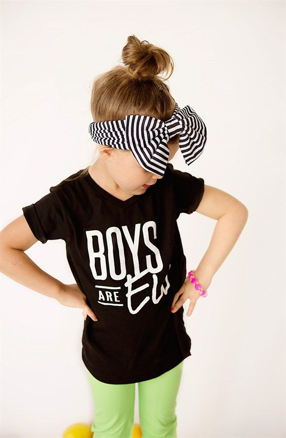 "Your little one will be the most stylish kid around with these rad graphic tees! with 27 styles to choose from, you really can't go wrong!Description: Soft 60% cotton 40% polyester blend kids v-neck graphic t-shirts! These darling tees have a ""boyfriend"" fit perfect for girls or boys, and nearly all of the designs are unisex too!SIZES: 6 Months12 Months18 Months2T3T4T5TYouth Small (Size 6-8)Youth Medium (Size 10-12)Youth Large (Size 14-16)"
