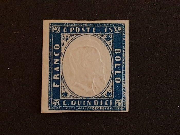 Koninkrijk van Italië 1863-15 cent - Sassone #11ka drievoudige portret versie  EUR 20.00  Meer informatie