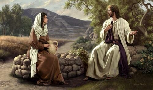 clipart jesus and the woman at the well - photo #4