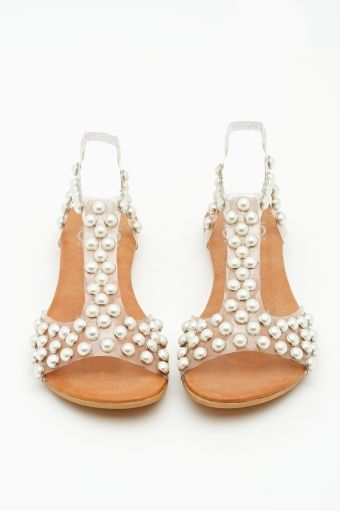 Pearl Studded Sandals.