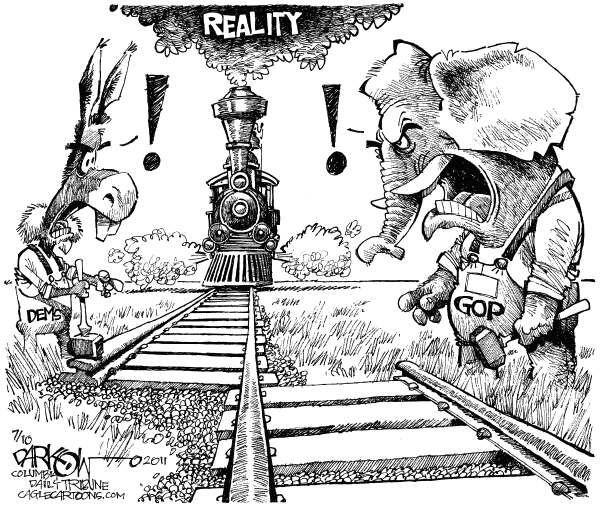 Humor Satire: Is Any Way To Run A Railroad? (Cartoon), 2011.