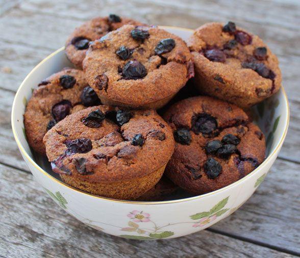 Blueberry, Banana and Raisin Muffins