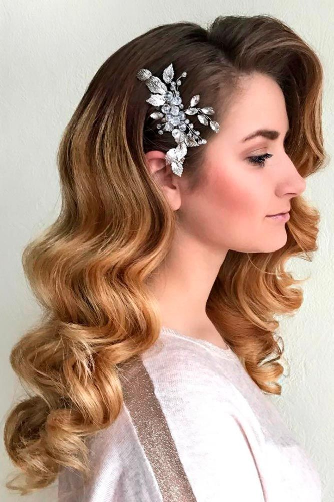 Hairstyles for prom half up half down with curls