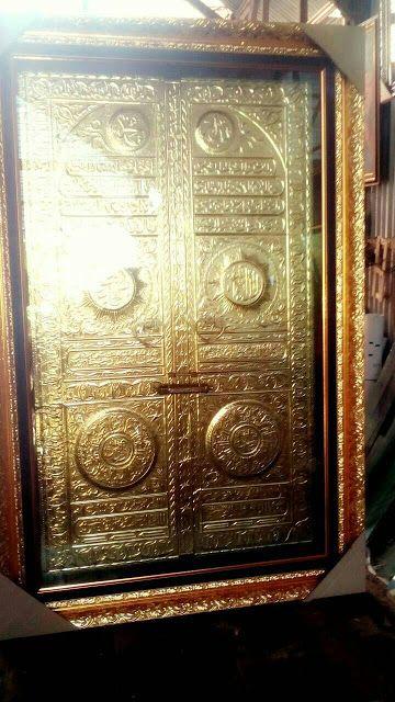 Kaligrafi Pintu Ka'bah Kuningan Jumbo  - Jual kaligrafi pintu kabah dari bahan kuningan ukuran besar. Hand made hasil karya terbaik de...