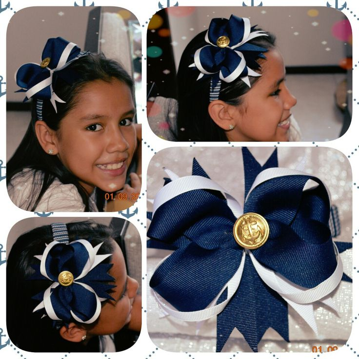 Diademas Navy azul-blanco y dorado