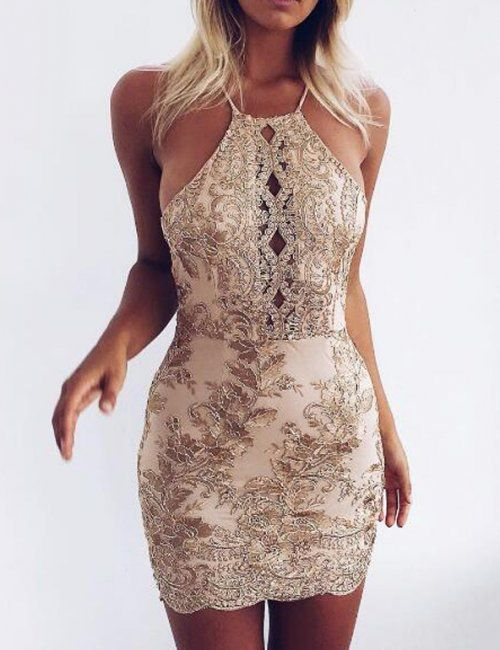 Party Sexy Backless Halter Dress