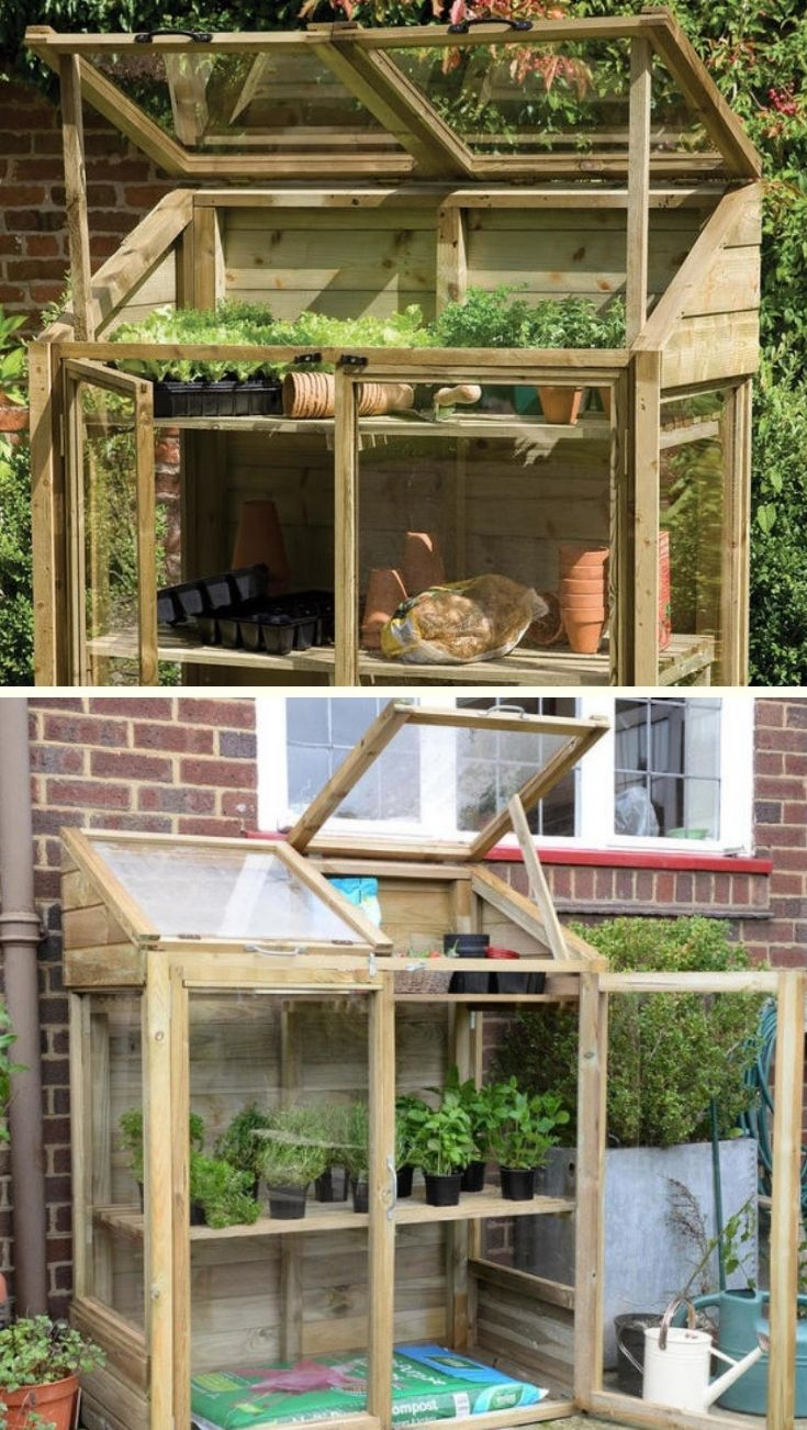 Buy Mini Wooden Greenhouse By Forest Garden The Worm That Turned Revitalising Your Outdoor Space Wooden Greenhouses Gardening For Kids Greenhouse