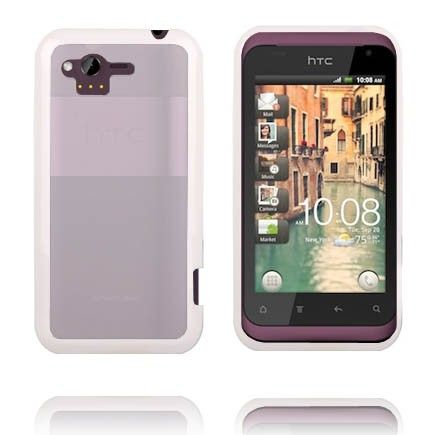 Transparent Back (White Edge) HTC Rhyme Cover
