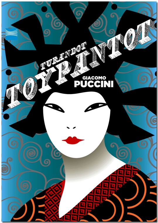 Turandot poster from the greek national opera performance in 2008