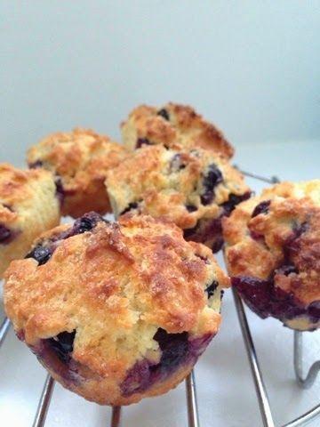 Super moist Airfryer blueberry muffins