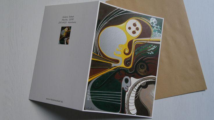 """Weiteres - Grußkarte A5 von H. Sobek - """"Mexiko""""  - ein Designerstück von HelenaSobek bei DaWanda"""