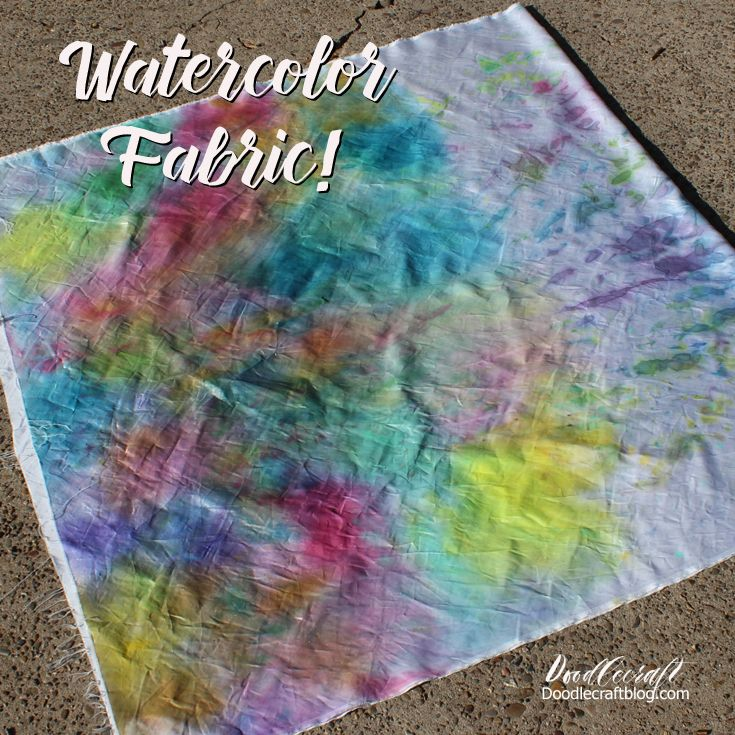 how to dye fabric with watercolors make gorgeous washes with watercolors on material that