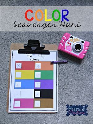 Going on a color hunt is a fun way for young children to practice colors. I love…