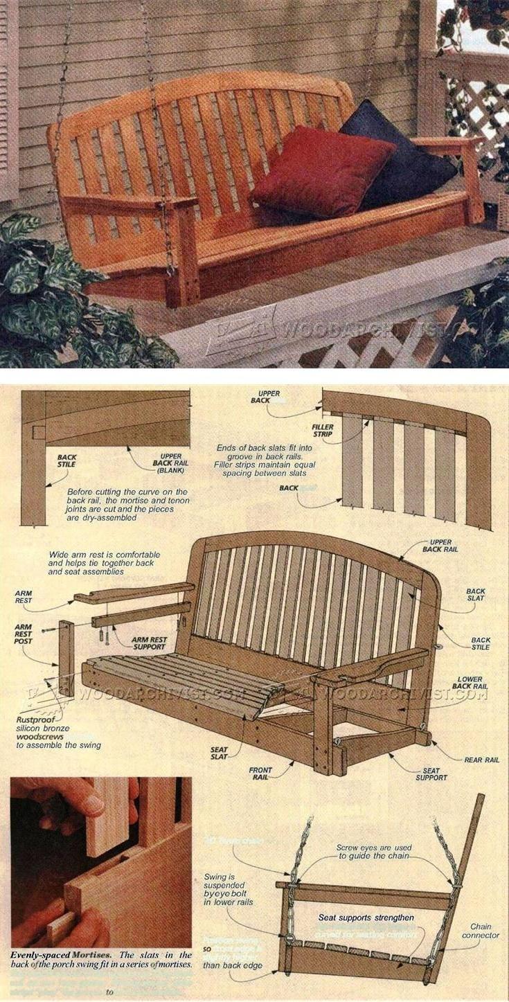 Porch Swing Plans - Outdoor Furniture Plans & Projects | WoodArchivist.com