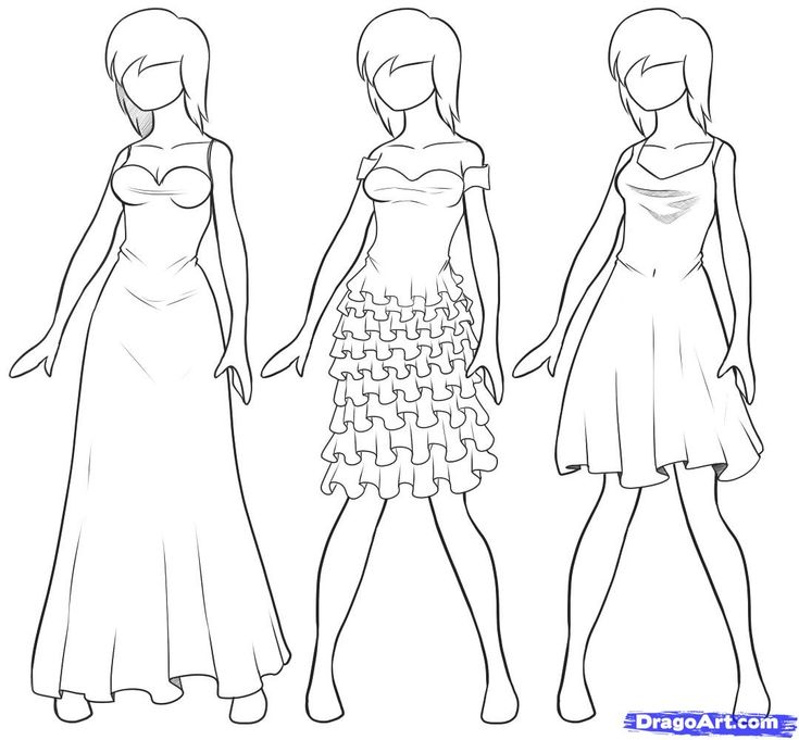 32 best images about drawing on pinterest drawing for for How to sketch clothes for beginners