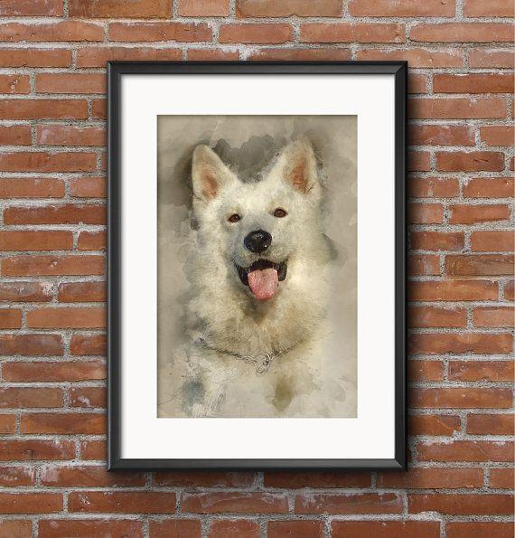 Пользовательские портрет, картина с фотографии, акварель, цифровая живопись, заказ искусства, изготовленные на заказ Акварель