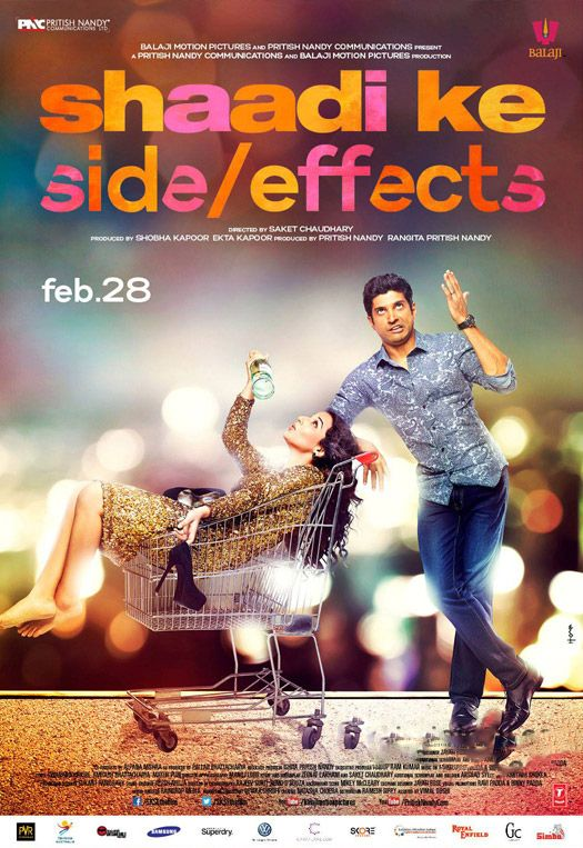 Shaadi Ke Side Effects' New Poster,Shaadi Ke Side Effects, Vidya Balan, Farhan Akhatar