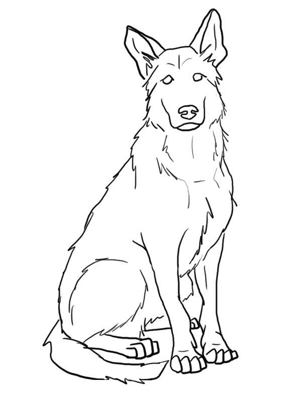 FREE German Shepherd Lines by s1088